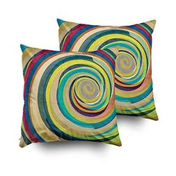 GROOTEY Decorative Cotton Square Set of 2 Pillow Case Covers