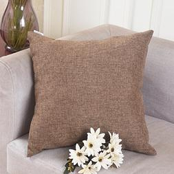 HOME BRILLIANT Fall Decoration Solid Linen Euro Throw Pillow