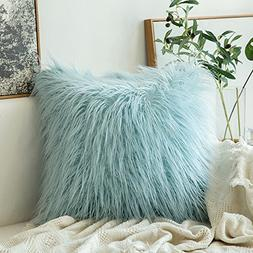 Miulee Decorative New Luxury Series Merino Style Light Blue