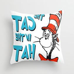 CuteeLopihs Decorative Pillowcase Thet cat in the hat copy C