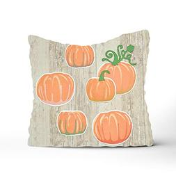 Dolores Joule Decorative Throw Pillow Covers Pumpkins and Pl