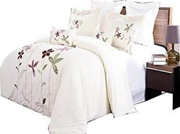 sheetsnthings 5 Piece Duvet Cover Set -South Garden- Full/Qu