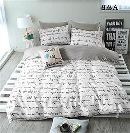 VClife Duvet Cover Twin Cotton Bedding Duvet Cover Sets-1 Du