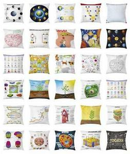 Educational Throw Pillow Cases Cushion Covers Home Decor 8 S