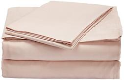 Natural Comfort Embossed Microfiber Sheet Set, X-Large, Pink