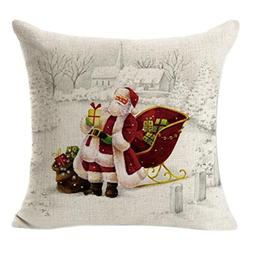 Seaintheson Embroidery Throw Pillow Case 18x18 Christmas Pil