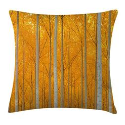 Ambesonne Fall Decorations Throw Pillow Cushion Cover, Mysti