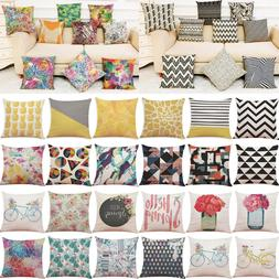 Fashion Print Pillow Cases Polyester Car Cushion Pillow Cove