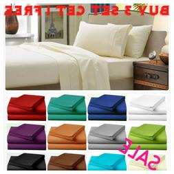 Fitted Bed Sheet Flat Sheets 1900 Series 14 Deep Pocket Wrin