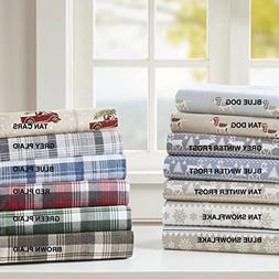 JLA Home INC Flannel California King Bed Sheets, Casual Lodg