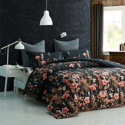 Floral Queen Size Comforter with Pillow Cases Set Bedding Vi