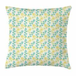 Flower Throw Pillow Cases Cushion Covers by Ambesonne Home D
