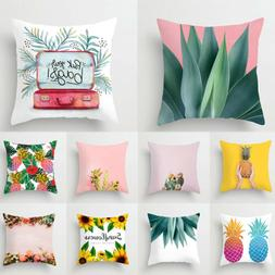Fresh Cactus Plant Print Cushion Covers Polyester Throw Pill