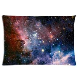 WECE Funny Cheap Pillow Case,Galaxy Space Universe Pillowcas