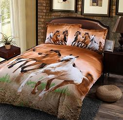 Wowelife Horse Bedding Sets Kids Bedding Sets Queen Size 4 P