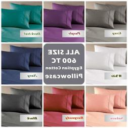 Genuine 600TC Combed Natura Egyptian Cotton Pillow Cases For
