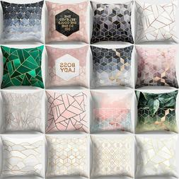 Geometric Printed Polyester Throw Pillow Cases Sofa Cushion