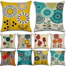 Abstract Floral Pattern Pillow Cases Cover Throw Waist Cushi