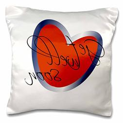 3dRose Get Well Soon Heart, Pillow Case, 16 by 16-inch