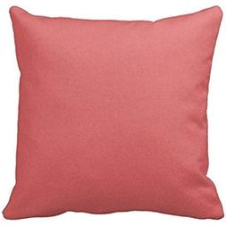 Yeat Gifts Pillow Cover Case Solid Dark Coral Color Backgrou