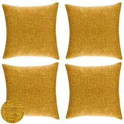gold throw pillows faux linen