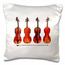 3dRose The Great Stradivarius Violins, Pillow Case, 16 by 16
