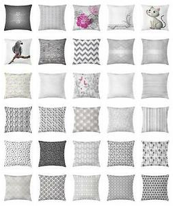 Grey Throw Pillow Cases Cushion Covers Ambesonne Accent Deco