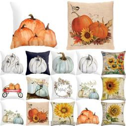 Halloween Happy Pillow Cases Fall Sofa Pumpkin Throw Cushion