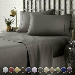 HC Collection Bed Sheet  Pillowcase Set HOTEL LUXURY 1800 Se