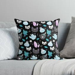 Herb Witch Throw Pillow Cases, Halloween Witches Pattern Pil