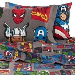 Jay Franco Marvel Avengers Superheroes Full Sheet Set - 4 Pi