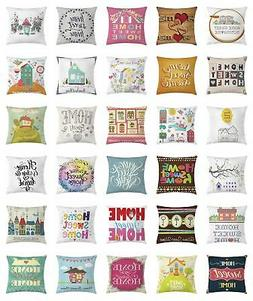 Home Sweet Home Throw Pillow Cases Cushion Covers Home Decor