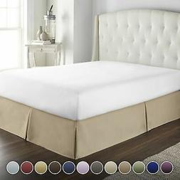 Hotel Luxury Bed Skirt/Dust Ruffle 1800 Platinum Collection-