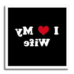 3dRose ht_16583_1 I Love My Wife-Iron on Heat Transfer for W