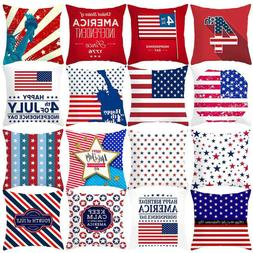 Independence Day 4th Of July Pillow Cases Sofa Cushion Cover