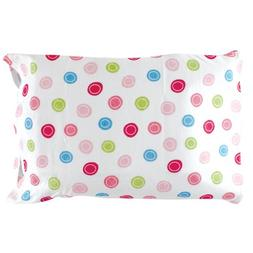 Luvable Friends Infant Pillow Case, Traditional Pink Print