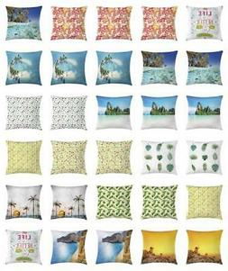 Island Throw Pillow Cases Cushion Covers by Ambesonne Home D