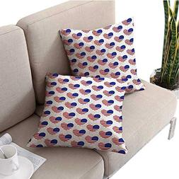 unrequitedlove 4th of July Square Pillowcases Pattern with A