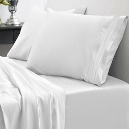 King Size Bed Sheet Set 1800 Thread Count Egyptian Quality 2