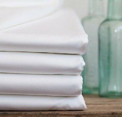1/2 dz white hotel linen pillow cases king size 20x40 percal