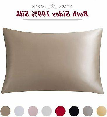 100% Pillowcase 19 Momme Bed Pillow Hair and