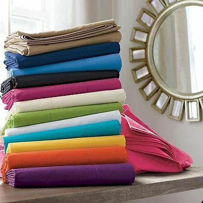1000TC 2 PC Pillow Cases/Shams Solid 100%Egyptian Cotton Sel