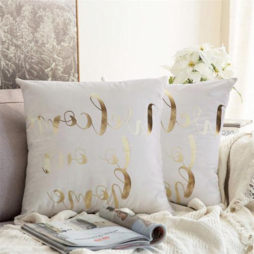 "15 2PCS 18"" Pillow Cases Sofa"