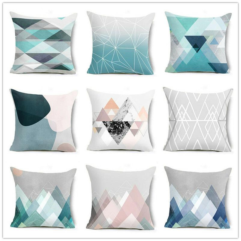 18 inch minimalist style abstract triangle geometry