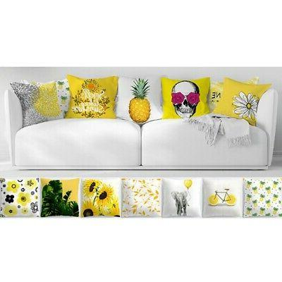18'' Yellow Cases Cushion Cover