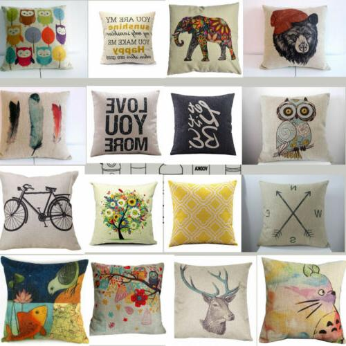 18 vintage home decor cotton linen pillow