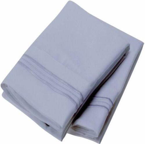 Mellanni Collection Microfiber Pillowcase Stain Resistant