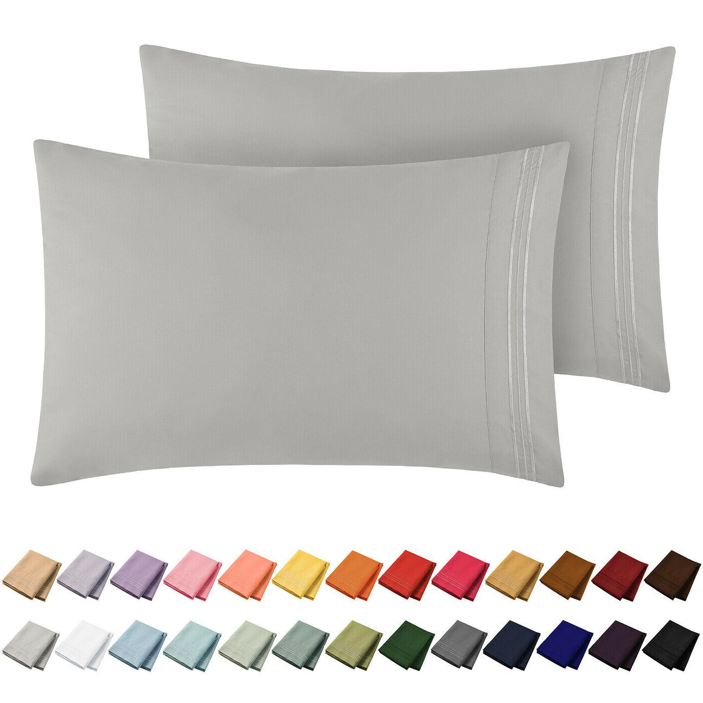 1800 collection microfiber pillowcase set wrinkle fade