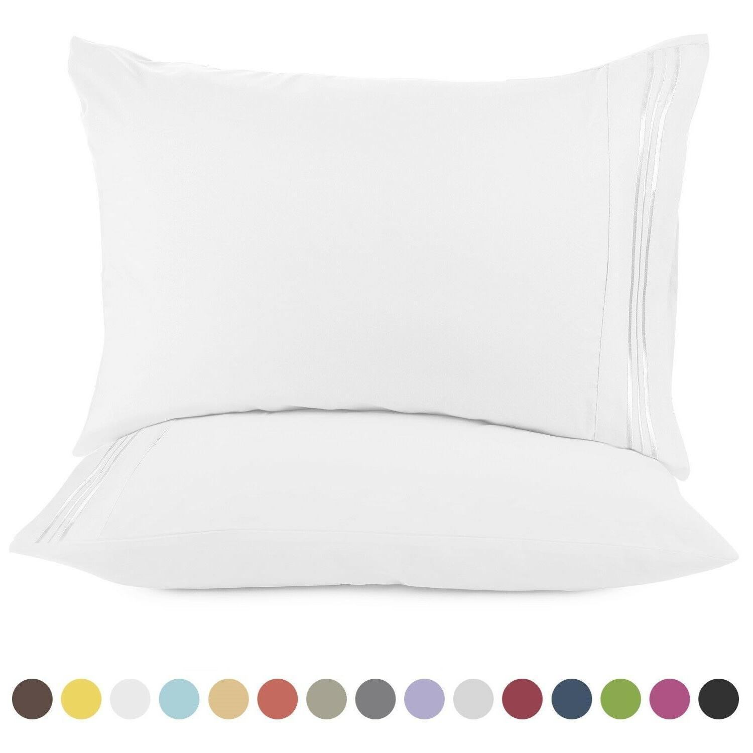 1800 pillow case set queen standard or