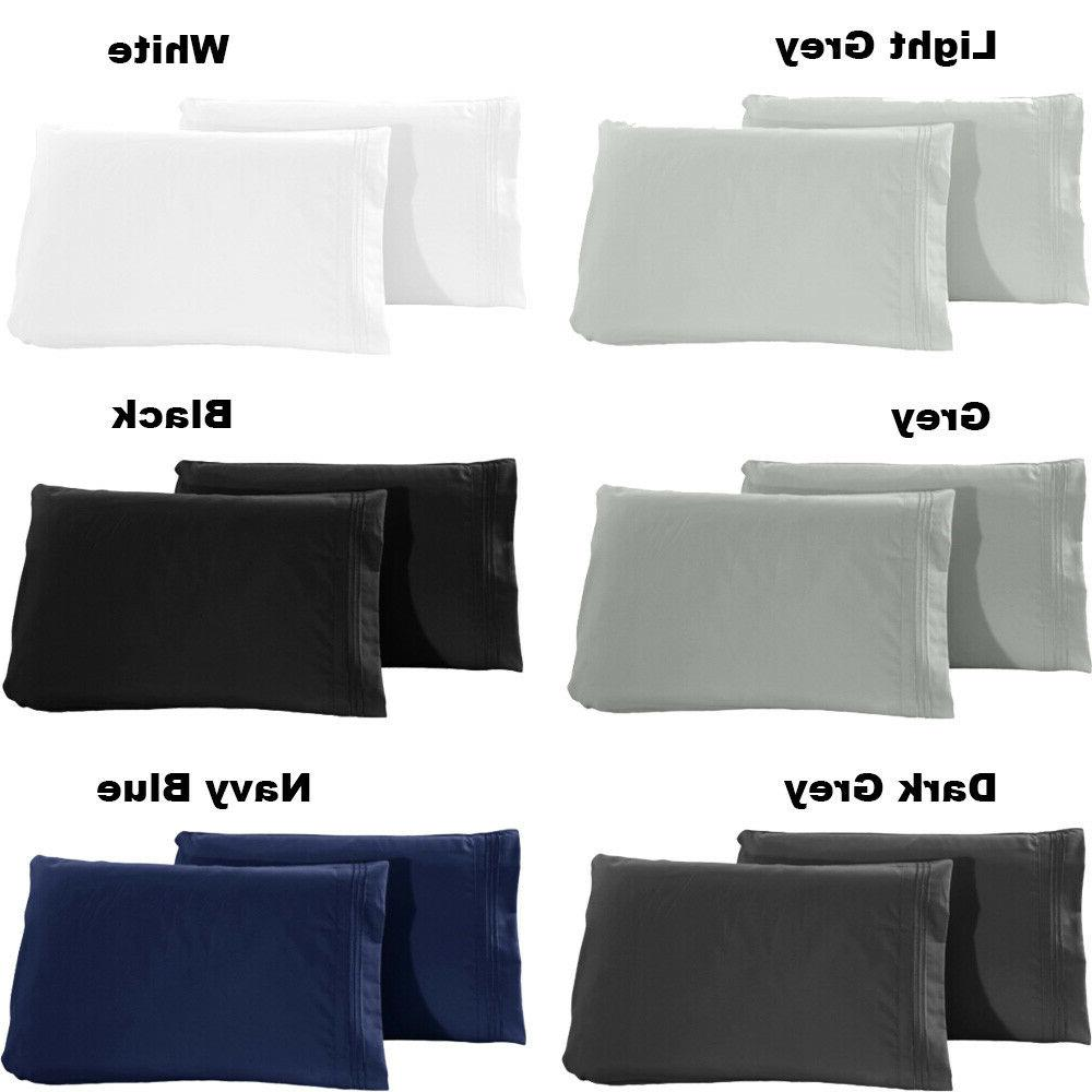 1800 pillowcase set queen king size set